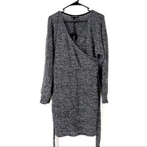 Revamped Women's Knit Wrap Belted Sweater Dress